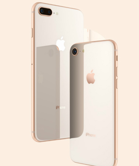 iPhone8ニューゴールド